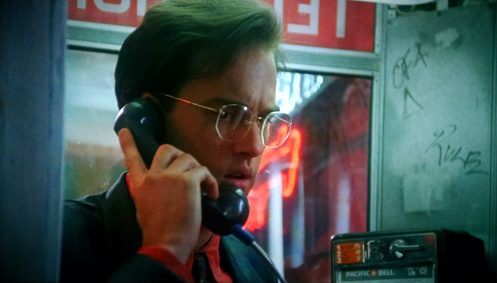 Harry phonebooth Miracle Mile 1988