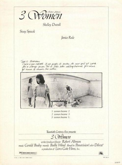 3 Women Poster Rober Altman