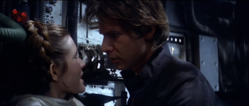 Han Leia Kiss Empire Strikes Back